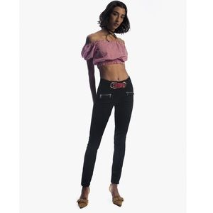 Miaou Opening Ceremony Black Roxi Jeans Zip Ankle